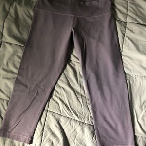 Lululemon grey crops